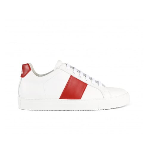 Edition 4 white low sneakers with red band