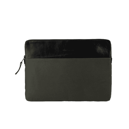 Porte ordinateur kaki et noir