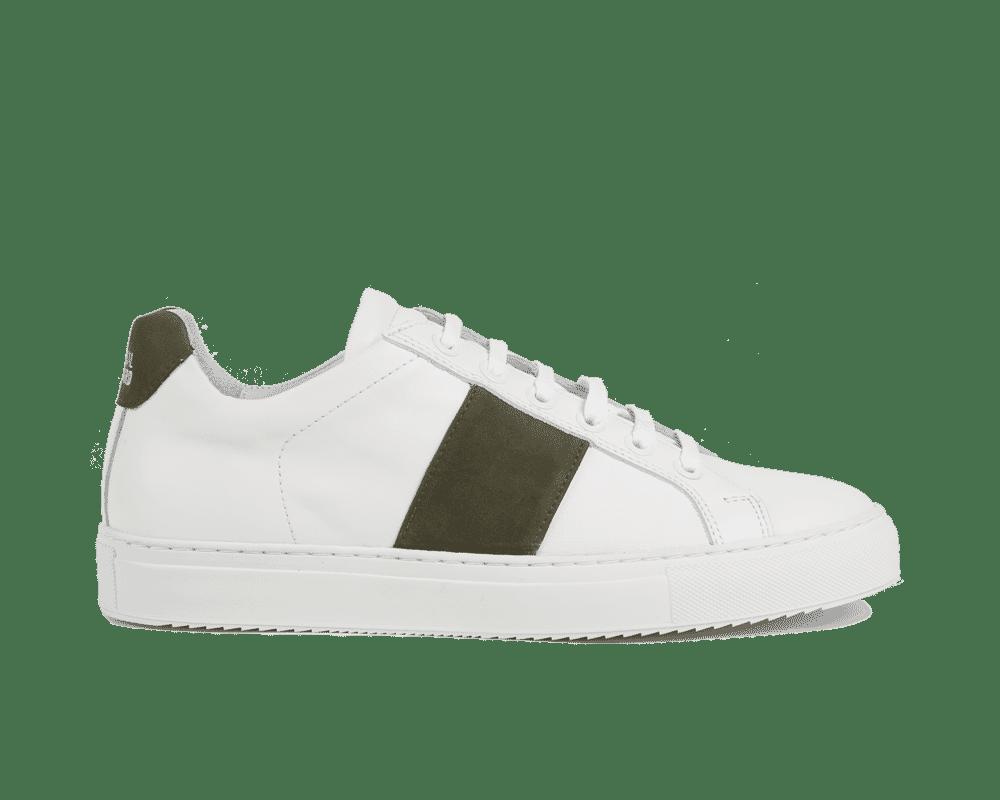 Edition 4 blanche bande kaki