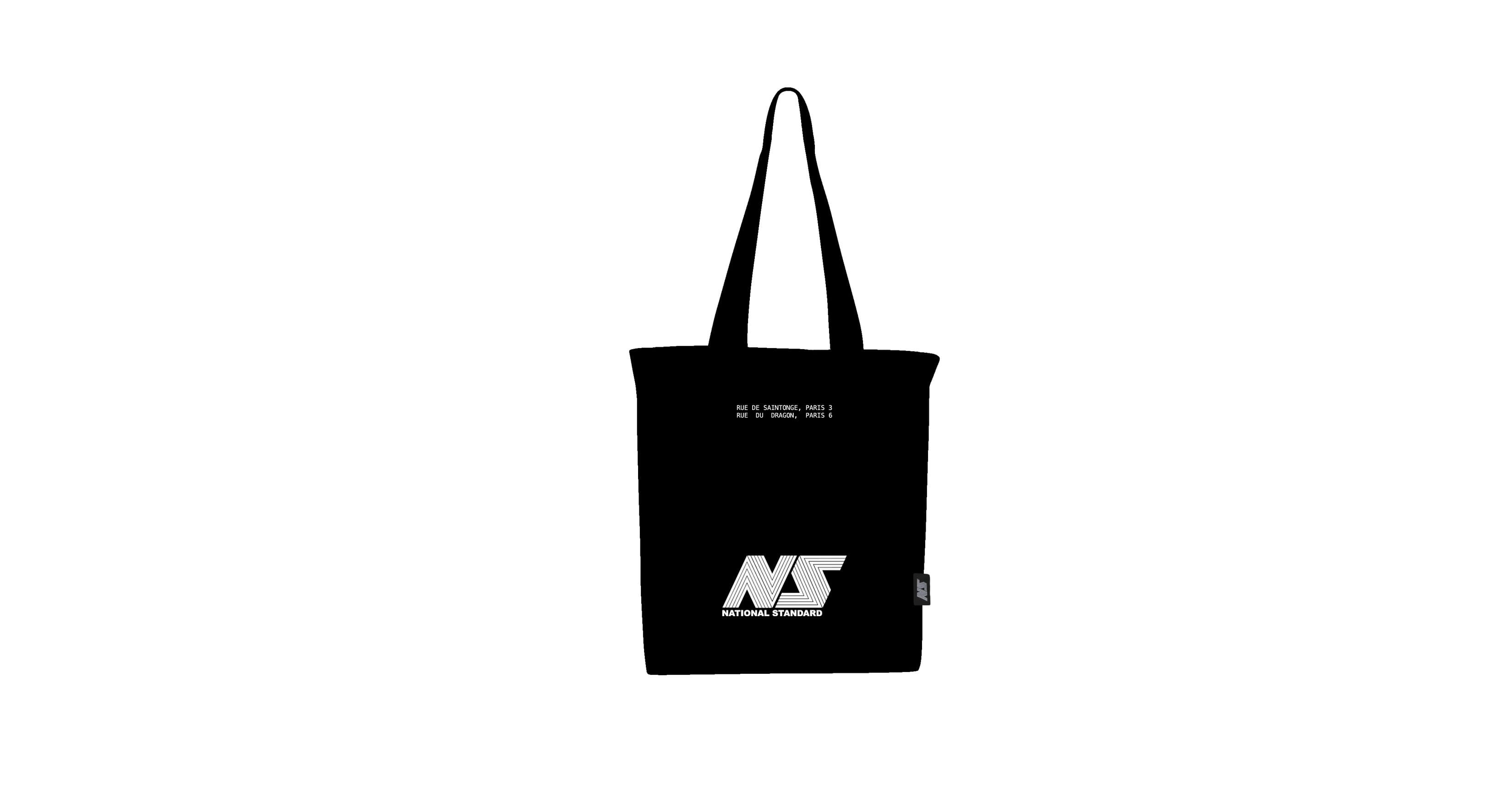 TOTE BAG BLACK COTON